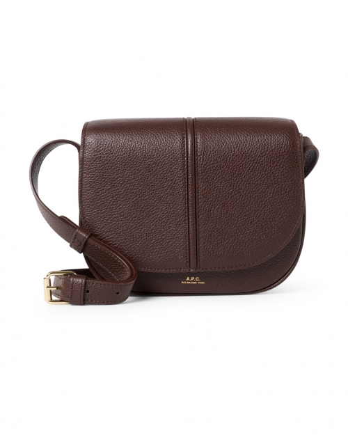 A.P.C. Betty Dark Brown Grained Leather Crossbody Bag