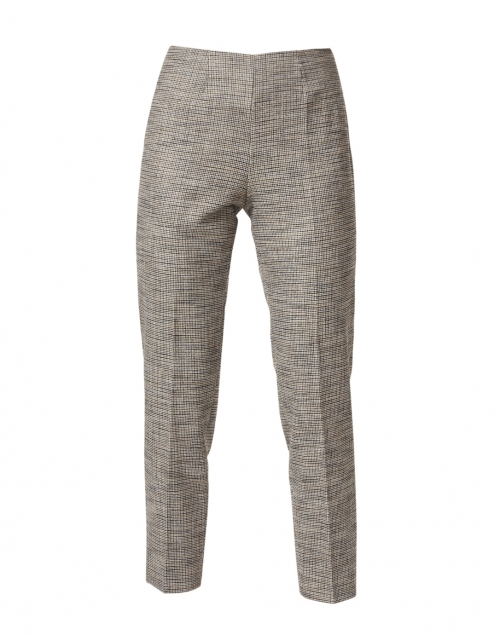 Piazza Sempione Monia Beige and Black Houndstooth Stretch Pant