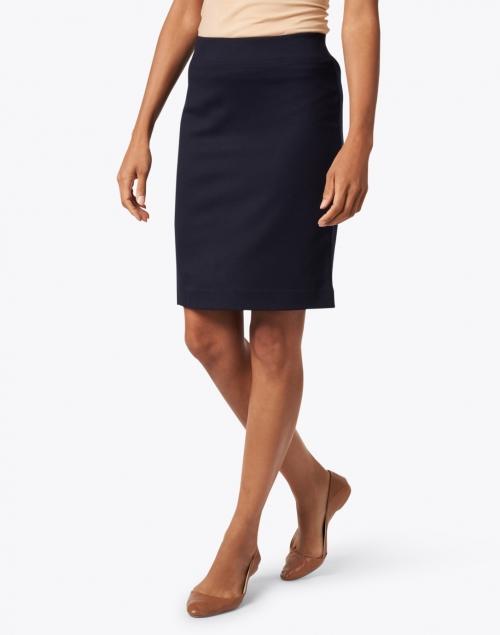 Marc Cain - Navy Ponte Pull On Skirt