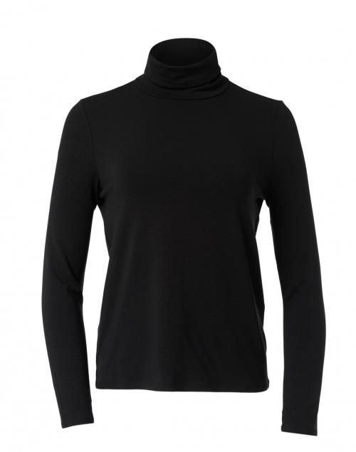 Eileen Fisher - Black Fine Stretch Jersey Top