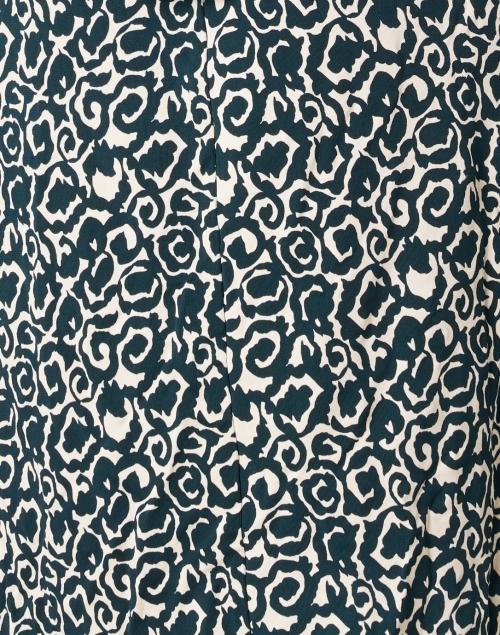 Weekend Max Mara - Acume Dark Green and Ivory Print Jersey Dress