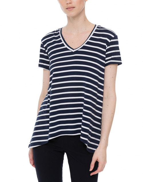 Southcott - Wonder-V Navy and White Striped Bamboo-Cotton Top