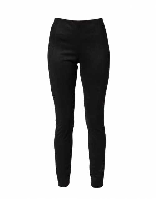 Peace of Cloth - Chantal Black Faux Suede Seamed Legging