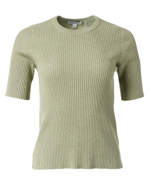 Repeat Cashmere Green Ribbed Cotton Sweater