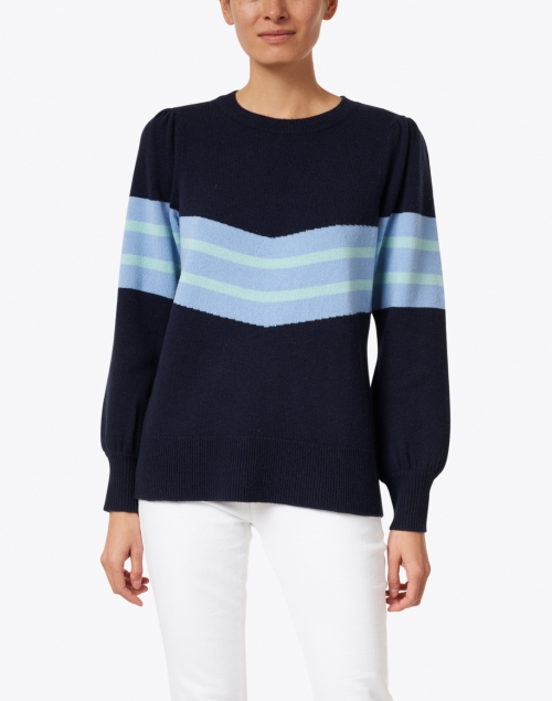 Sail to Sable - Navy Striped Wool Sweater