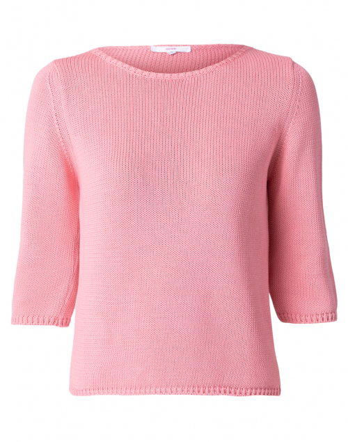 Leggiadro Sea Coral Cotton Knit Sweater