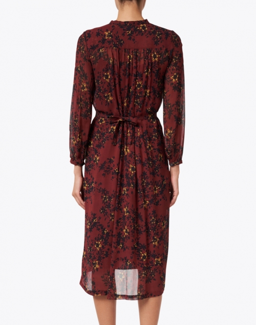 Megan Park - Mila Red and Black Floral Print Dress