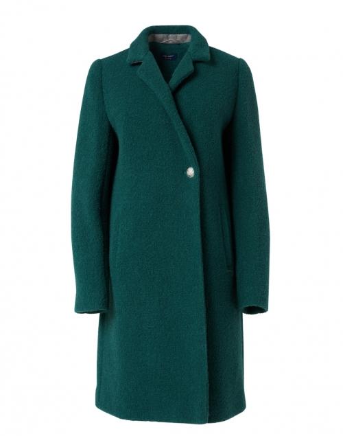 Saint James Agnes Forest Green Wool Coat