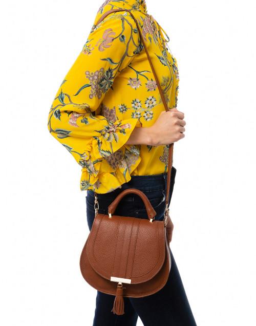 DeMellier - Mini Venice Cognac Pebbled Leather Cross-Body Bag