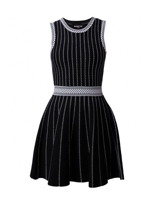 Paule Ka - Black Fit and Flare Dress