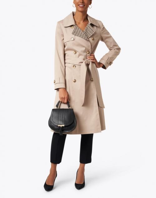 Helene Berman - Beige Stretch Cotton Trench Coat