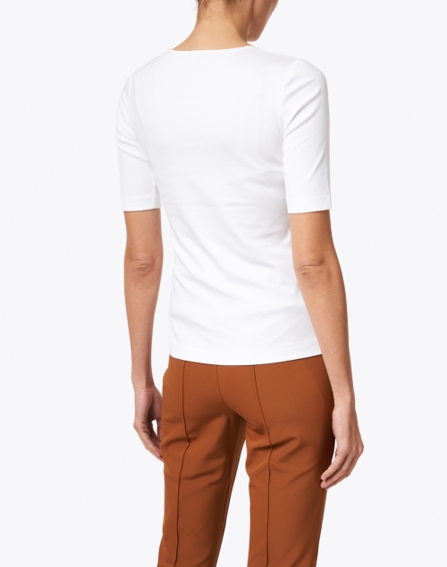 Lafayette 148 New York - White Stretch Cotton Top