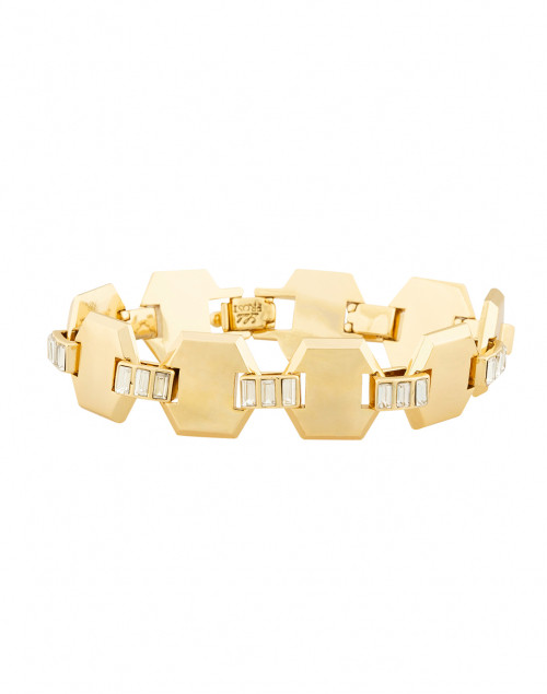 Lulu Frost - Meta Gold Crystal Line Bracelet