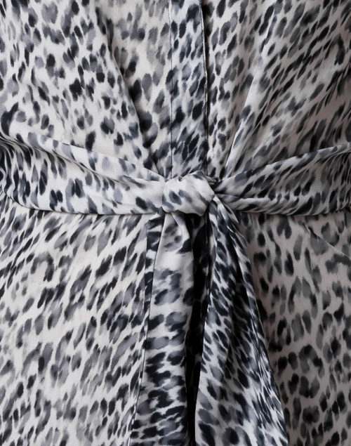 Brochu Walker - Madsen Black and White Leopard Printed Dress
