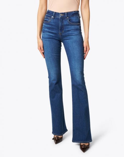 Veronica Beard - Beverly Bright Blue High Rise Flare Stretch Jean