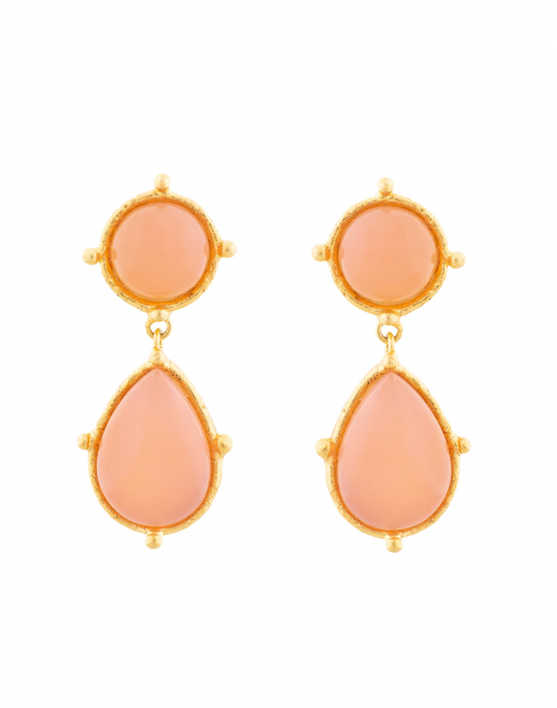 Sylvia Toledano - Two Pink Quartz Stone Drop Earrings