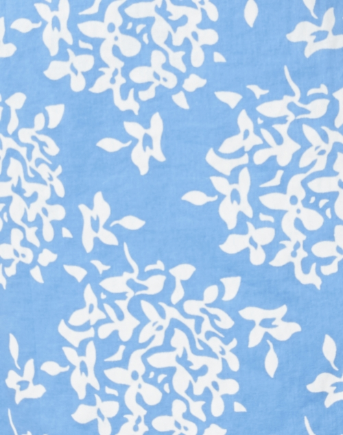 Sail to Sable - Blue Hydrangea Printed Cotton Voile Tunic Top