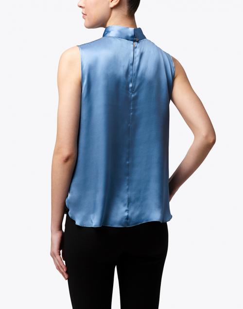 Seventy - Light Blue Silk Satin Top