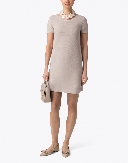 Amina Rubinacci - Calvin Beige Cotton Dress