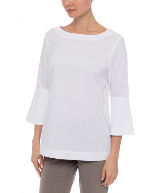 Hinson Wu - Lutetia White Stretch Cotton Blouse