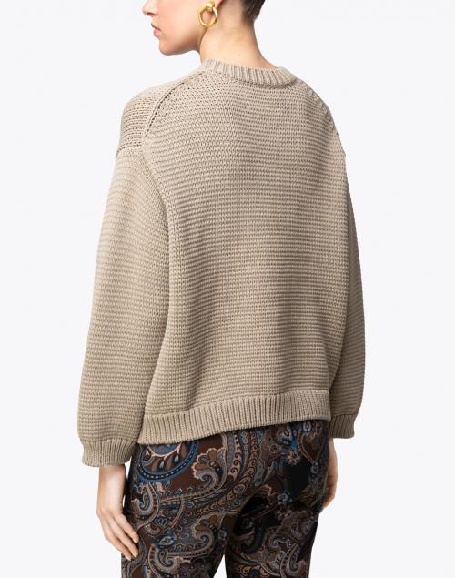 Brochu Walker - Pismo Morel Beige Cotton Sweater