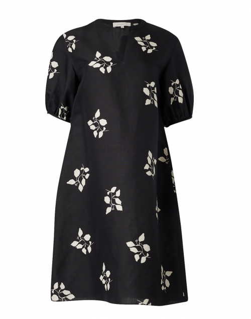 Lafayette 148 New York - Ida Black Leaf Print Silk Dress