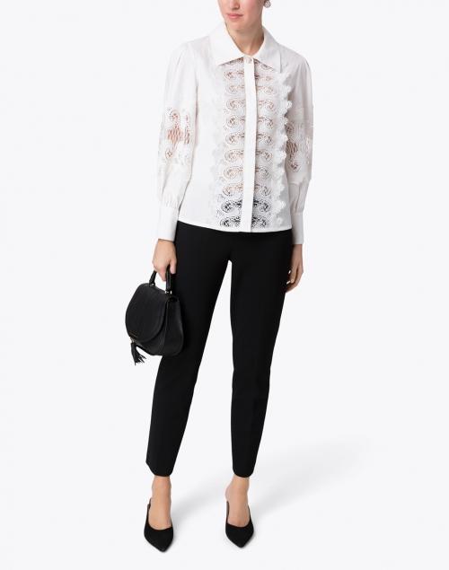 Edward Achour - White Embroidered Cotton Shirt