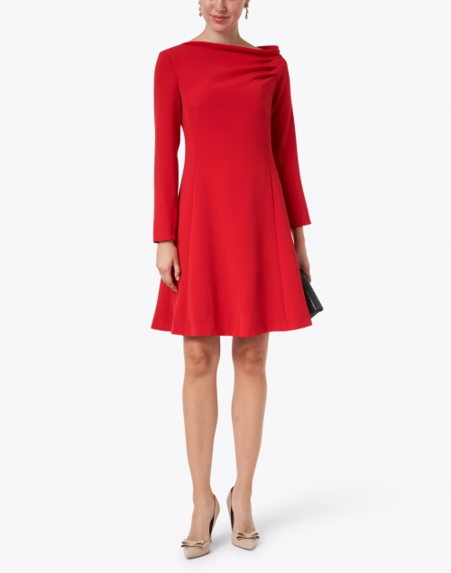 Maison Common - Red Ruched Neck Dress