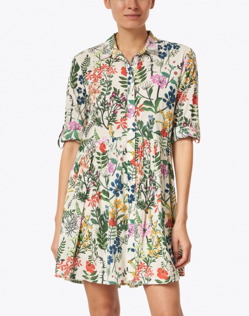 Ro's Garden - Deauville Multicolored Floral Printed Shirt Dress