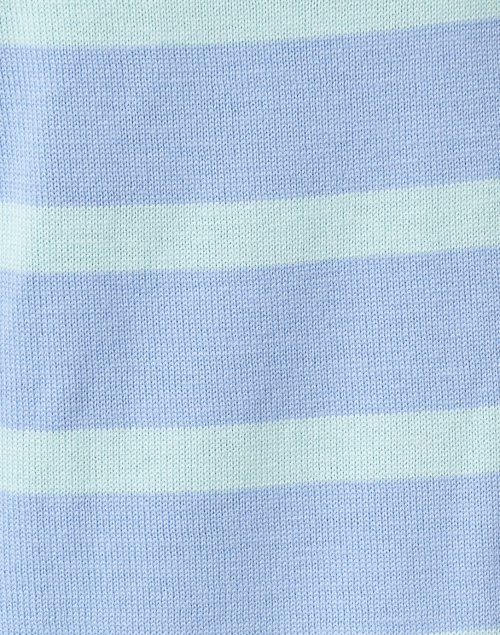 Sail to Sable - Periwinkle and Mint Striped Merino Wool Sweater