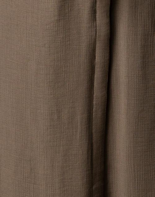 Brochu Walker - Madsen Olive Green Crinkle Crepe Maxi Shirt Dress