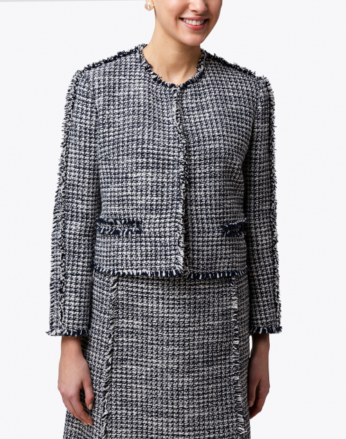 BOSS Hugo Boss - Johellina Navy and White Tweed Jacket
