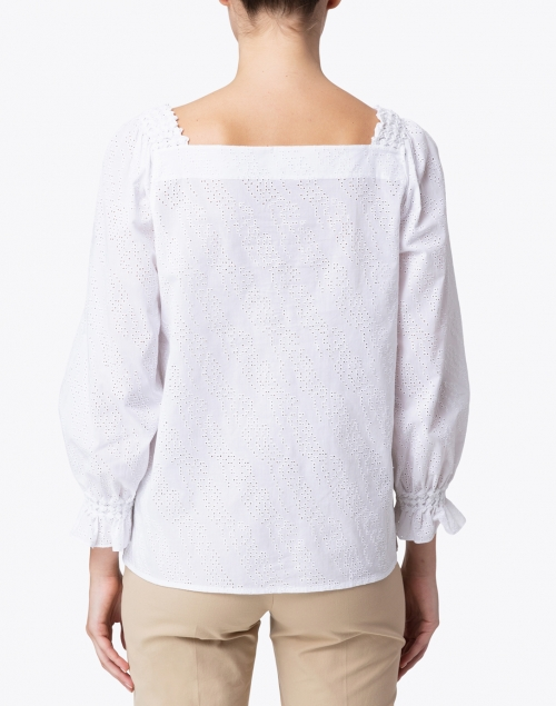 Lafayette 148 New York - Bevins White Eyelet Cotton Blouse