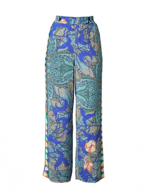 Kobi Halperin Arlene Blue Paisley Printed Pull-On Pant