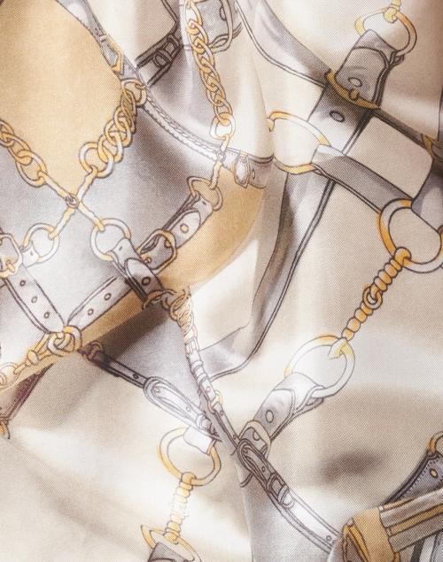 Weekend Max Mara - Nido Beige Chain Link Silk Blouse