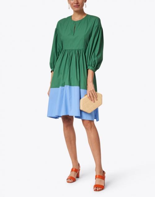 Weekend Max Mara - Sala Green and Blue Colorblock Cotton Dress