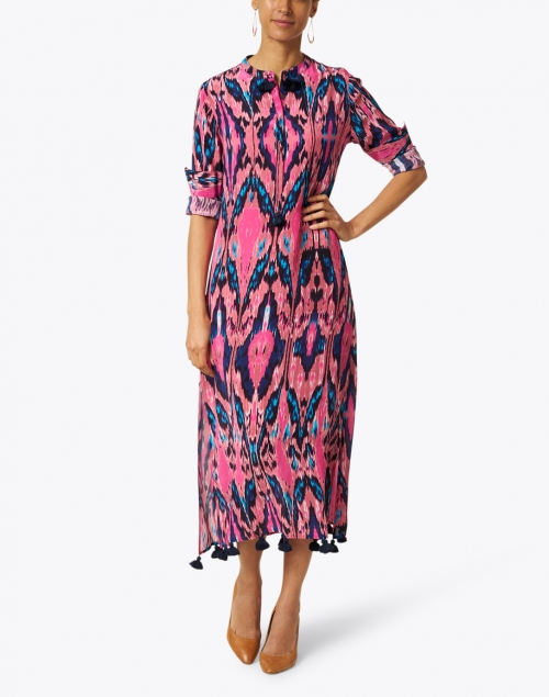 Figue - Paolina Ikat Pink Print Kaftan