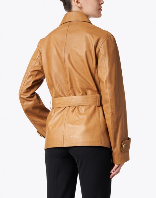 Vince - Camel Leather Safari Jacket