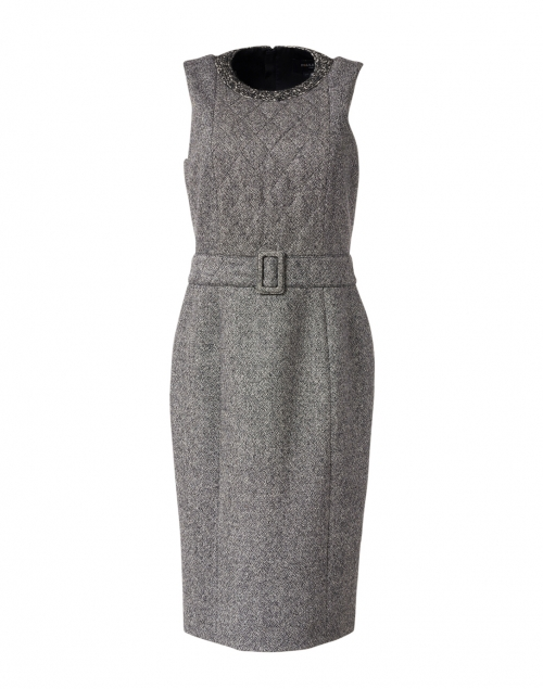Paule Ka - Grey Stretch Wool Sheath Dress
