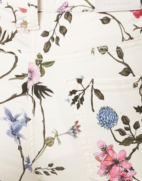 Cambio - Paris Summer Floral Print Cropped Jean