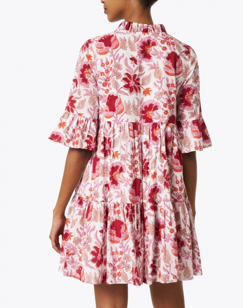 Jude Connally - Maria Red and White Floral Cotton Voile Dress