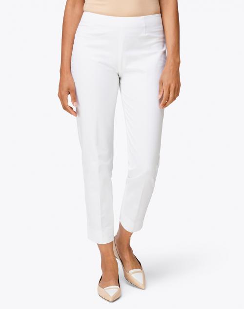 Piazza Sempione - Monia White Stretch Cotton Tapered Pant