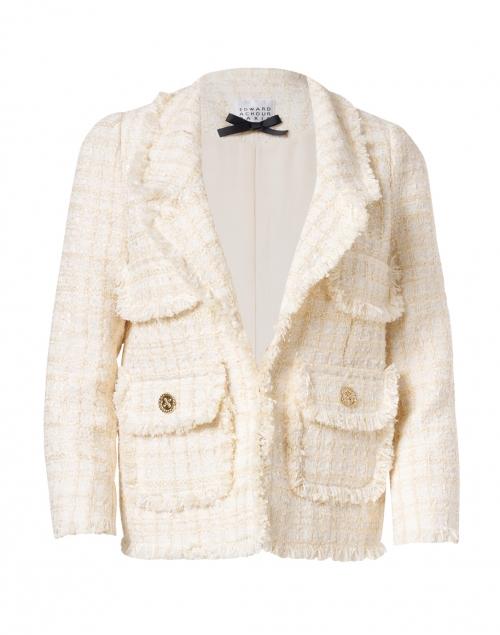 Edward Achour Cream Tweed Jacket with Pockets