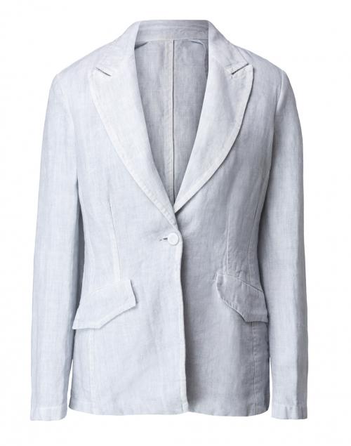 120% Lino Stone Linen Peak Lapel Jacket