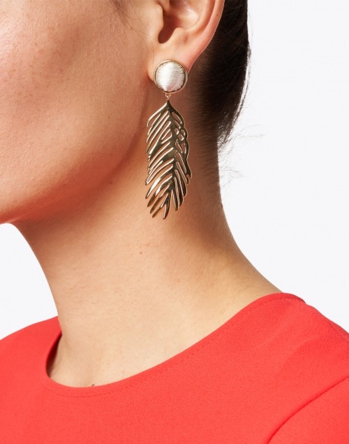 Mignonne Gavigan - Cooper Gold Palm Drop Earrings