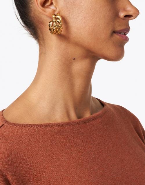 Jennifer Behr - Tara Gold Link Hoop Earring