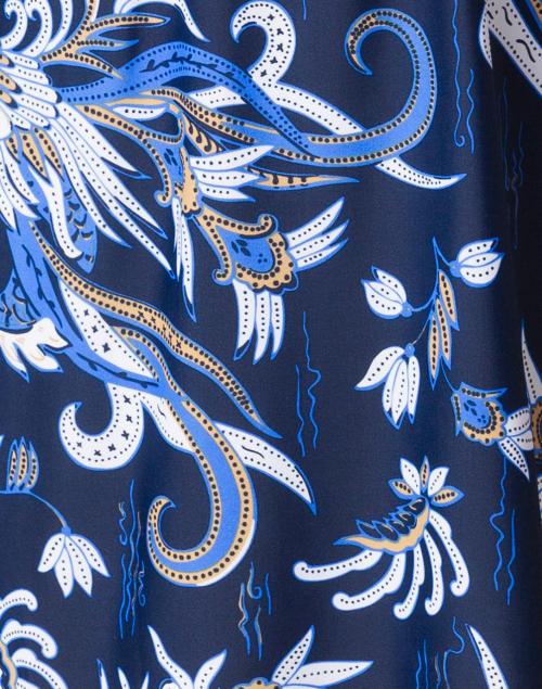 Jude Connally - Kerry Blue Dragon Printed Dress