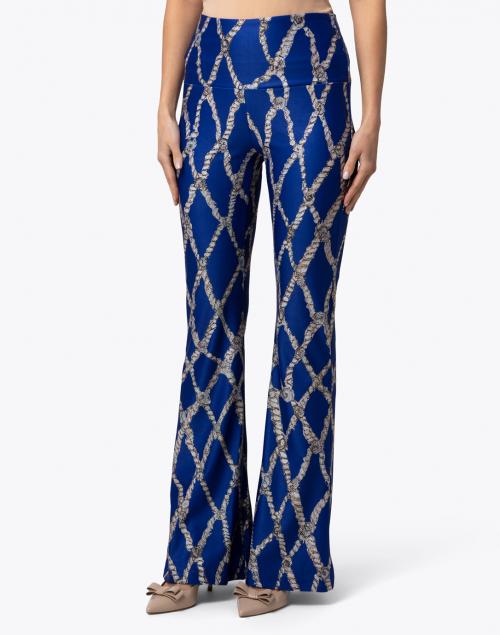 Ala von Auersperg - Elaine Blue Sea Rope Printed Stretch Pant
