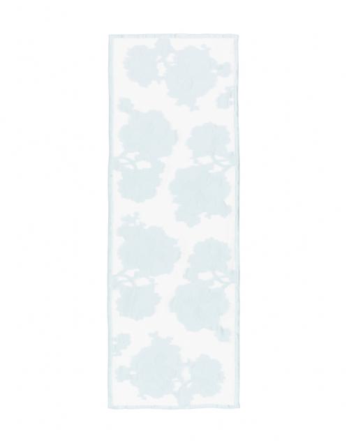 Max Mara - Mochi Light Blue Floral Printed Silk Scarf