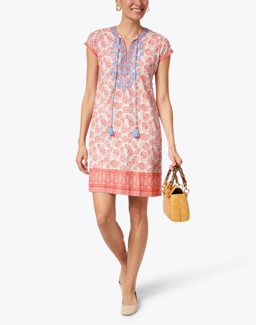Bella Tu - Erin Poppy Orange Floral Printed Cotton Dress
